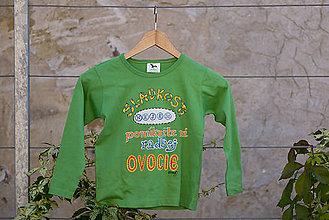 Detské oblečenie - sladkosti nejem,ponúknite mi radšej ovocie - 8677085_