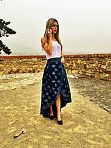 Sukne - Zavinovacia sukňa LEONA - modrotlač - 8675996_