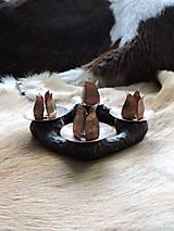 Svietidlá a sviečky - Adventný veniec, svietnik (medený) - 8677170_