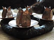 Svietidlá a sviečky - Adventný veniec, svietnik (medený) - 8677171_