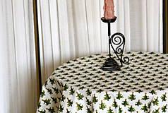 Úžitkový textil - Obrus. Vianočný sviatočný adventný. - 8676078_
