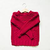 dievčenský pulóver - bordový