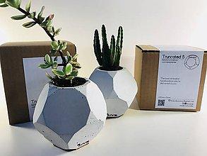 Nádoby - Betónový kvetináč Truncated S - šedý - 8674199_