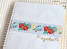 Papiernictvo - Svadobný fotoalbum - s farebnou krajkou - 8676393_