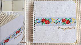 Papiernictvo - Svadobný fotoalbum - s farebnou krajkou - 8676395_