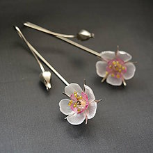 Náušnice - Náušnice jabloňové kvety - 8676369_