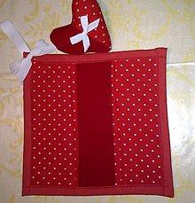 Úžitkový textil - Chňapka veľká so srdiečkom - 8677494_