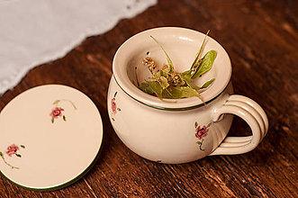 Nádoby - Hrnček na čaj so sitkom - 8676741_
