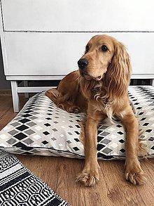 Pre zvieratká - Poťah na pelech pre psov - čiernobielym vzorom - 8677009_