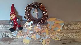 Dekorácie - Vianočné ozdôbky v krabici - 8674332_