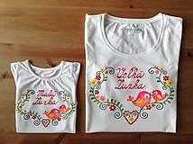 Folkový set maľovaných tričiek