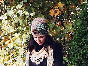 Čiapky - Ruženka béžová - 8677516_