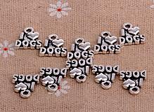 - Prívesok I ♥ DOGS - 8676952_