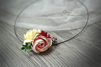 Náhrdelníky - Kvetovaný Náhrdelník - 8674740_