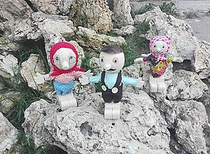 Socha - Recyklo bábiky - 8674251_