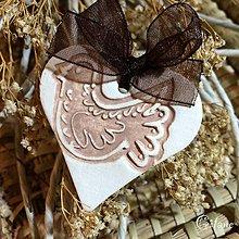 Darčeky pre svadobčanov - Keramické srdiečka - Holúbok - 8677036_