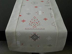 Úžitkový textil - Štóla - Smotanové Vianoce - 8679256_