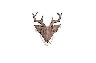 Odznaky/Brošne - Drevená brošňa Deer Brooch - 8678239_