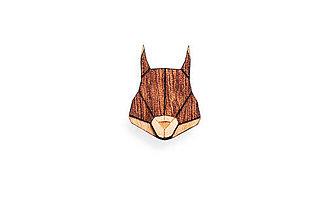 Odznaky/Brošne - Drevená brošňa Squirrel Brooch - 8678388_