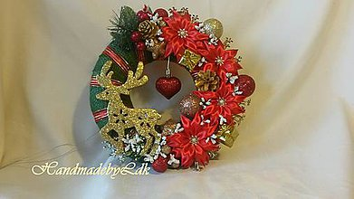 Dekorácie - Vianočný venček - zelený - 8678275_