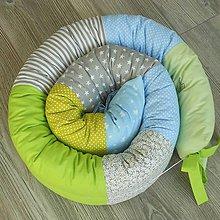Textil - Had *Šedá-Modrá-Zelená* - 8679949_