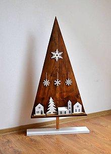 Dekorácie - Vianočný stromček-drevený-výška 103 cm - 8680002_