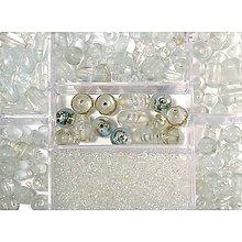 Korálky - Sklenené korálky – box, rock crystal - 8679648_