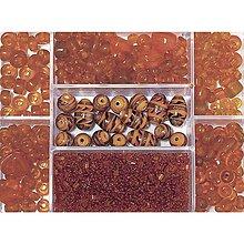 Korálky - Sklenené korálky – box, capri orange - 8679781_