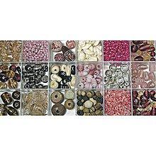 Korálky - Sklenené korálky – box, pale-pink - 8680013_