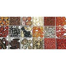 Korálky - Sklenené korálky – box, ruby - 8680025_