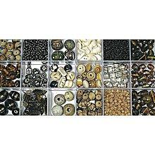 Korálky - Sklenené korálky – box, topaz - 8680038_