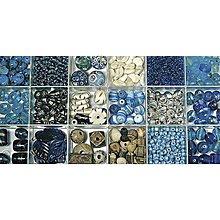 Korálky - Sklenené korálky – box, Indian turquoise - 8680054_