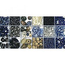 Korálky - Sklenené korálky – box, aquamarine - 8680071_