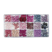 Korálky - Sklenené korálky – box, orchid - 8680160_