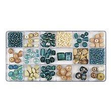 Korálky - Sklenené korálky – box, lagoon - 8680254_