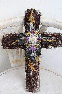 Dekorácie - Krížik na hrob - 8679375_