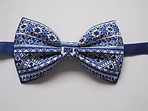 - Pánsky motýlik - vzorovaný v modrom - 8679758_