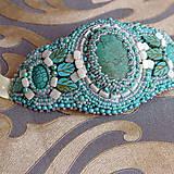 Náramky - Galateia - vyšívaný náramek - 8679227_
