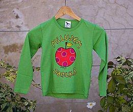 Detské oblečenie - milujem jablká - 8678596_