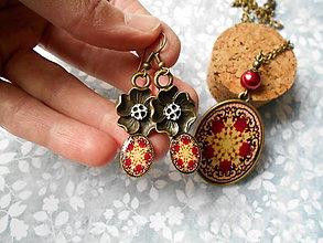 Sady šperkov - Bordový ornament - 8680064_