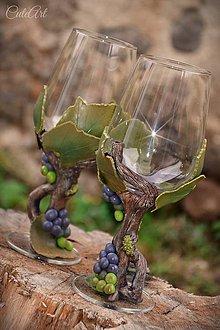 Nádoby - Viničové v darčekovej krabičke - sada 2 pohárov - 8681878_