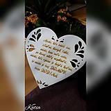 Srdiečko  na zavesenie s citátom ako darček