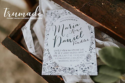 Papiernictvo - Svadobné oznámenia - jemný folk - 8678272_