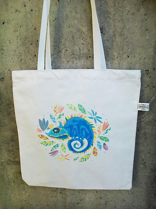 8cc600c73 Plátená taška *CHAMOŠ* / trnkova_ - SAShE.sk - Handmade Nákupné tašky