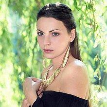 Náhrdelníky - Drevený náhrdelník Natur- Prírodný zlatý - 8680620_