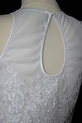 Šaty - Svadobné šaty s tylovým živôtikom a vzorovanou sukňou rôzne farby - 8679524_
