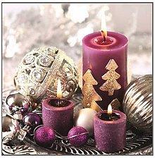 Papier - fialové Vianoce - 8680937_
