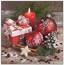 Papier - červené Vianoce - 8680945_