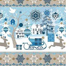Papier - modré Vianoce - 8681057_