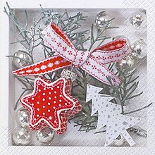 Papier - červeno-biele Vianoce - 8681127_